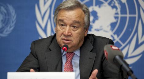 children, famine, Guterres, food, water