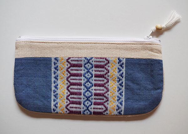 Mai-vietnamese-Astuccio-tessuto-artigianale-vietnamita-lino-blu-retro